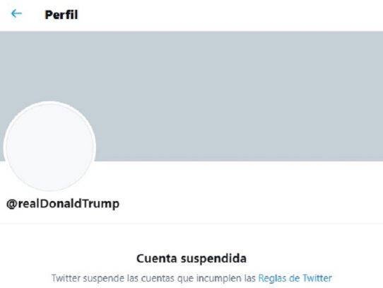 Twitter anunció suspensión permanente de la cuenta de Donald Trump