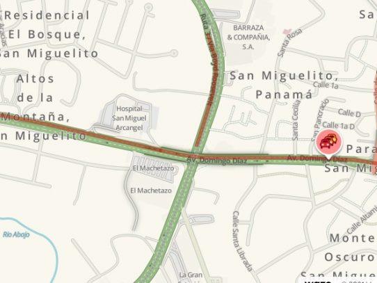 Cierre parcial de la intersección entre la vía Transístmica y las Avenidas Ricardo J. Alfaro y Domingo Díaz