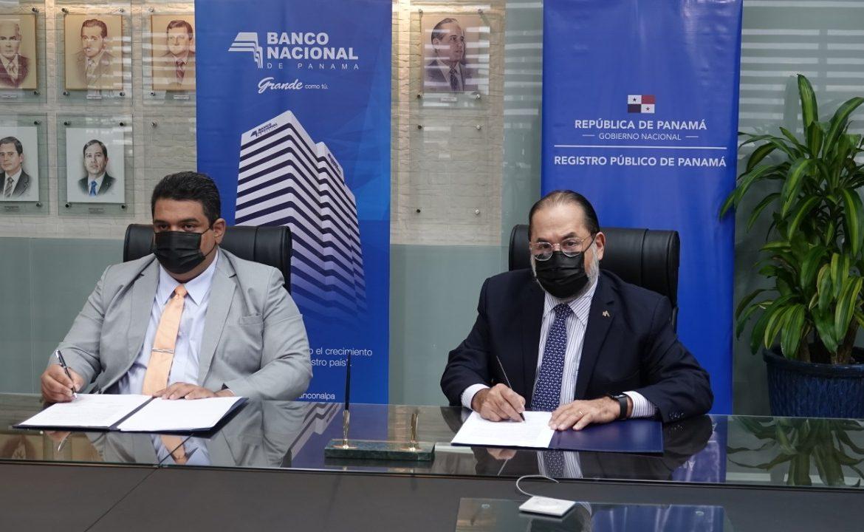 Banconal y Registro Público de Panamá firman convenio para automatizar procesos