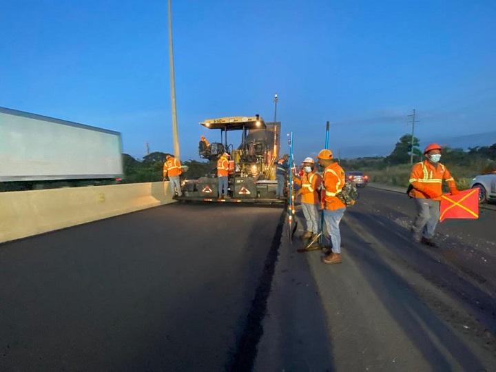 Trabajos en la autopista Arraiján - La Chorrera desde el 17 de febrero