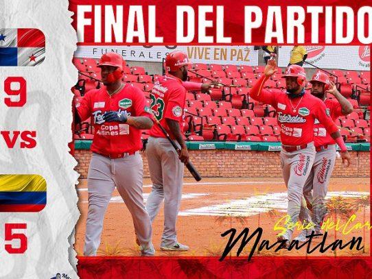 Panamá vence 9x5 a Colombia en la Serie del Caribe-2021