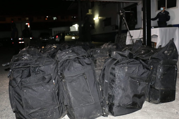 Decomisan  3,665 paquetes con droga en un puerto en Colón