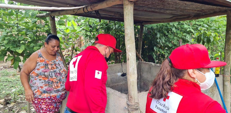Cruz Roja Panameña da seguimiento a comunidades afectadas por huracanes Eta e Iota