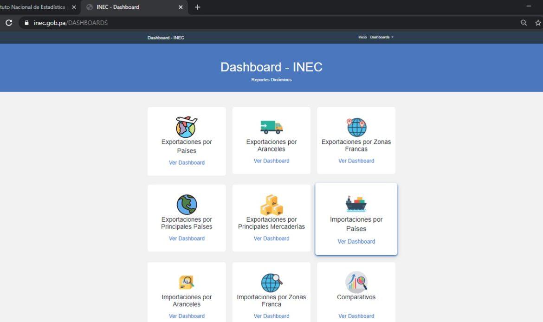 Nueva herramienta de Comercio Exterior:  Dash-INEC, Reportes Dinámicos