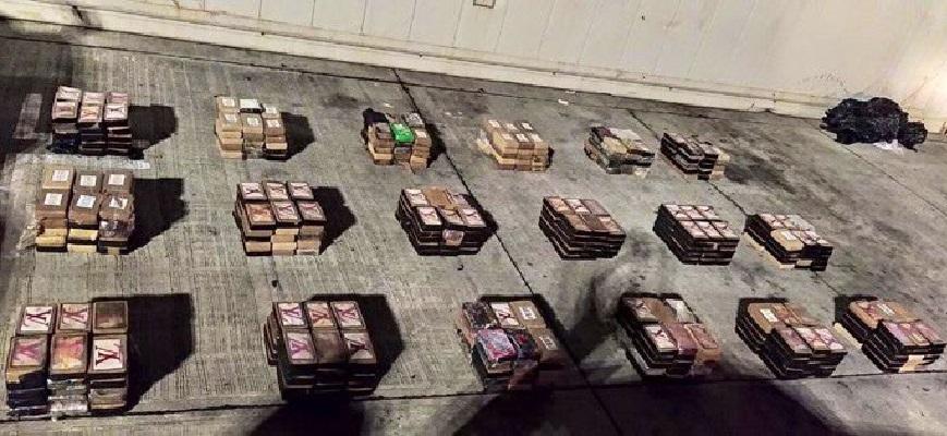 Decomisan 540 paquetes con droga, ocultas en sacos de cebollas