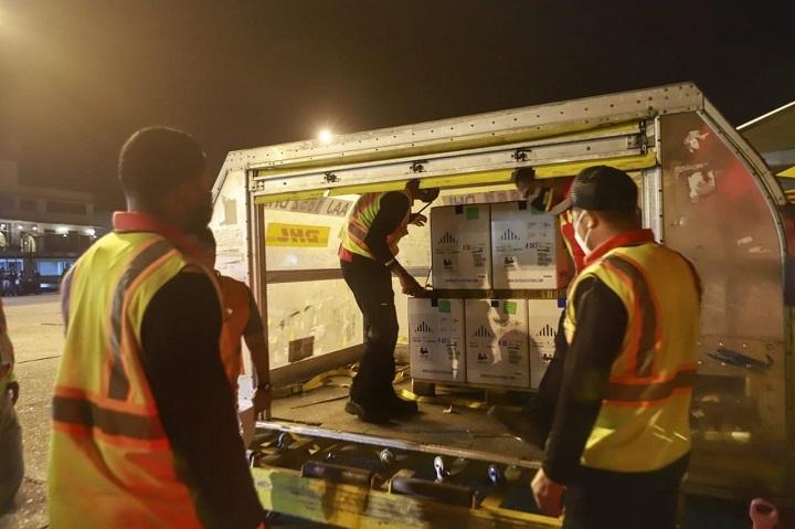 Llegan a Panamá 63,180 dosis de la vacuna Pfizer