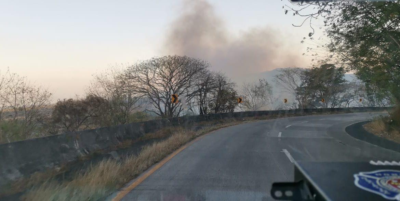 Incendios de masa vegetal en faldas de Cerro Campana