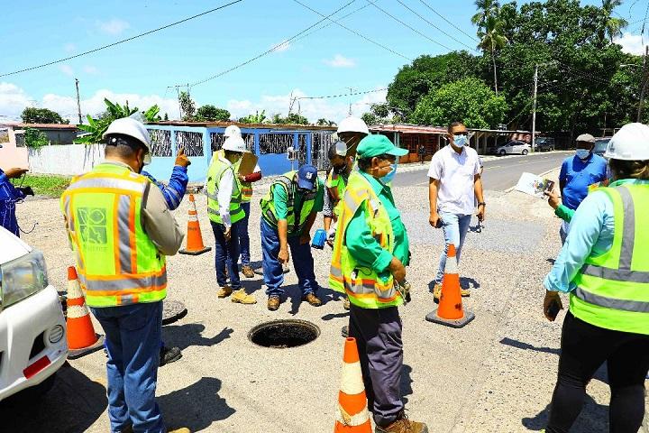 Culminan trabajos del Programa Saneamiento de Panamá en San Pedro No.2