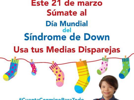 Hoy, Día Mundial del Síndrome de Down se recomienda usar medias dispares