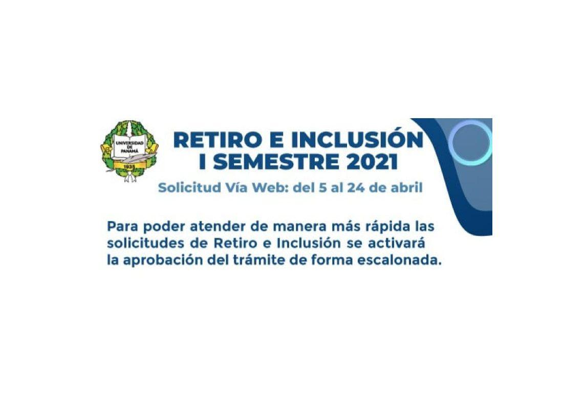UP iniciará mañana 5 de abril periodo de Retiro e Inclusión