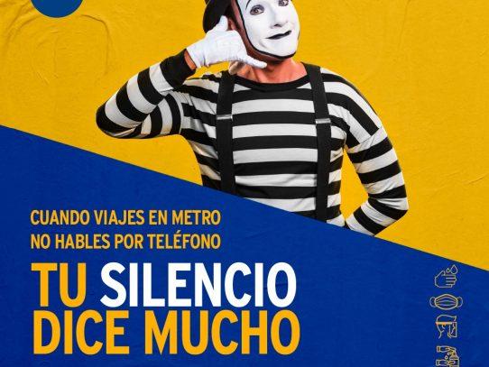 """El Metro de Panamá lanza la campaña """"Tu Silencio Dice Mucho"""""""