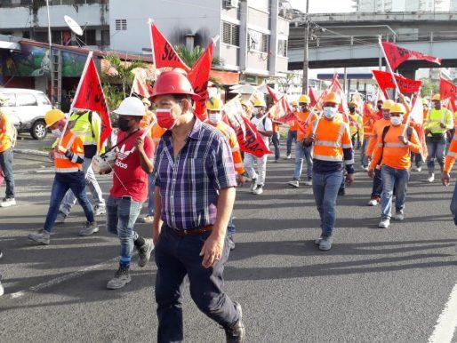 En las calles, Suntracs exige el cierre del diálogo por la CSS