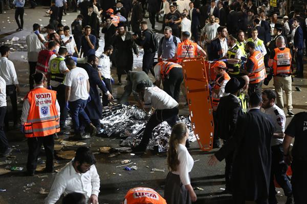Tragedia en Israel tras la fatal estampida humana que causó al menos 44 muertos