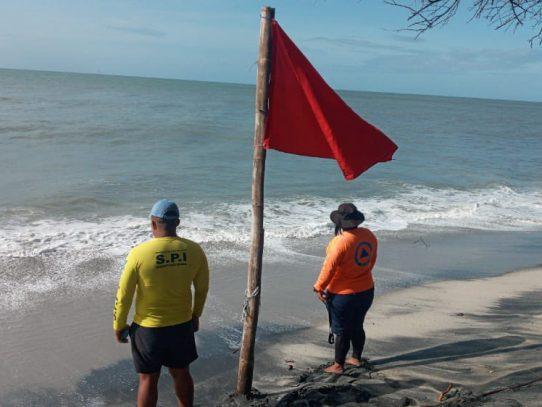 Sinaproc coloca bandera roja en playas de Pmá Oeste, Coclé y Veraguas