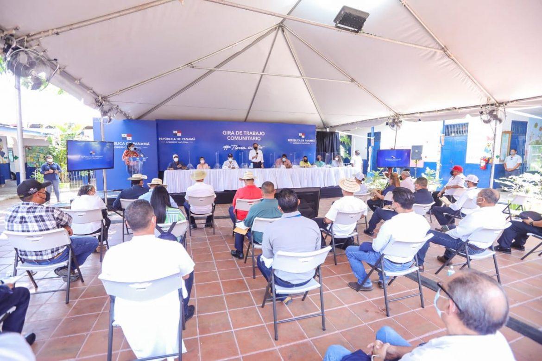 Presidente Cortizo realiza gira de trabajo en Los Santos