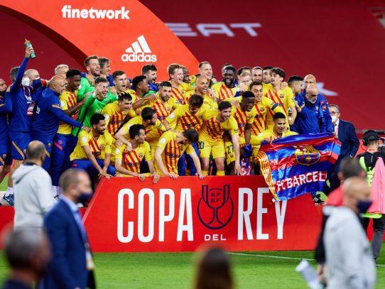 El Barça gana la Copa del Rey con un Messi estelar