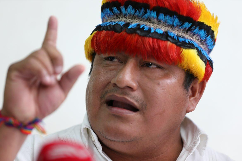 Líder indígena apoya al candidato correísta en medio de campaña por el voto nulo