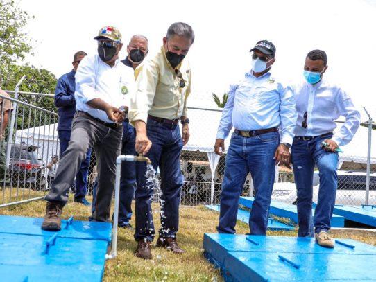 Nuevo sistema de distribución de agua en Antón