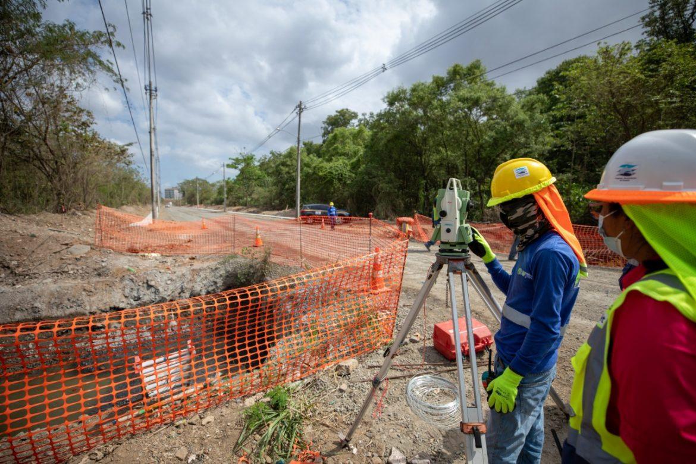 Rehabilitan vía de acceso a Planta de Tratamiento de Aguas Residuales