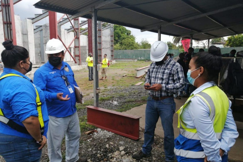 Inspeccionan la bioseguridad en obras de construcción y comercios de Veraguas