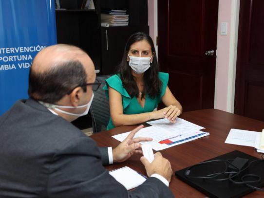 Directora de Senniaf y defensor del Pueblo buscan agenda común por niñez y adolescencia
