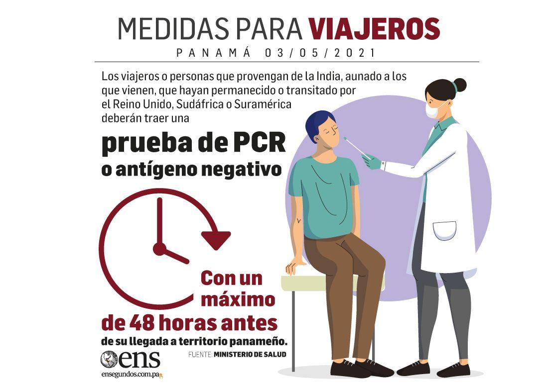 Para los viajeros: prueba de PCR