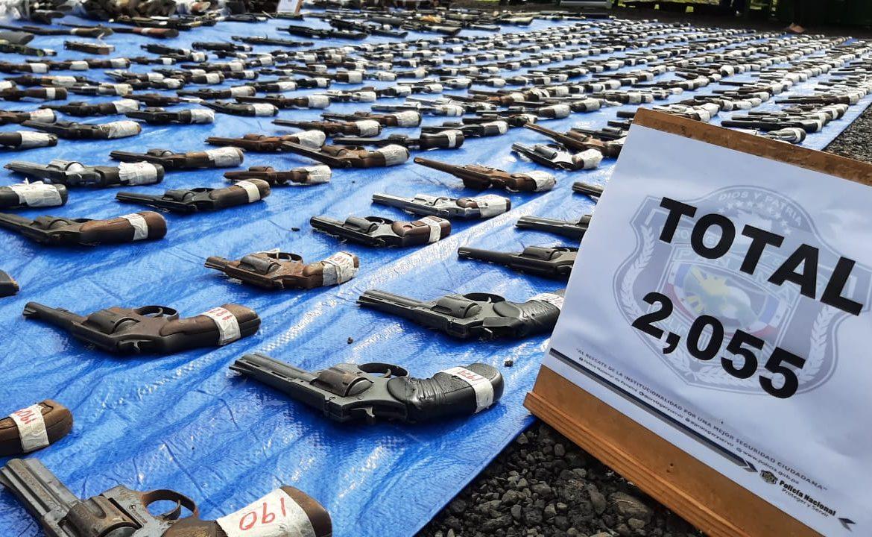 Minseg destruye más de 2 mil armas de fuego, explosivos y municiones
