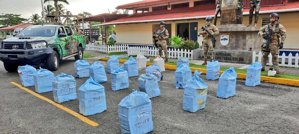 """Operación Caribe Dos"""" logra incautar mas de 22 toneladas de drogas en Colón"""
