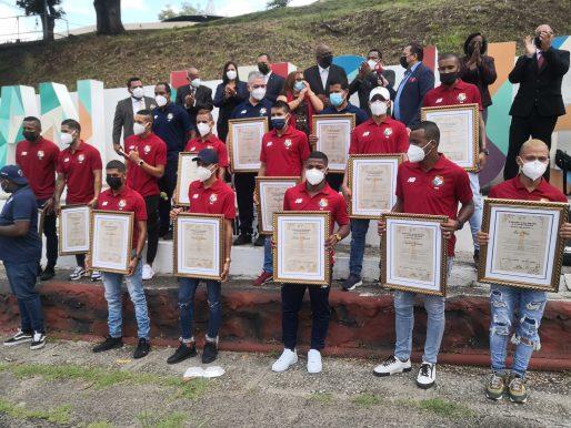 Declaran a la selección de futsal hijos meritorios de San Miguelito