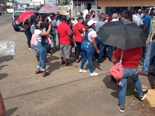 Reportan protesta frente a las instalaciones del MOP en La Chorrera