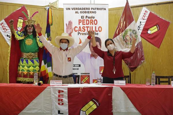 El maestro izquierdista Pedro Castilo es el presidente electo de Perú