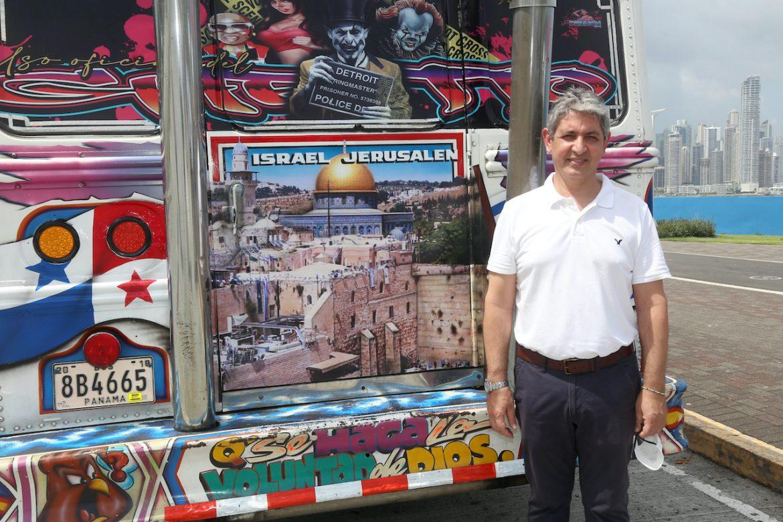Jerusalén es resaltada en transporte público de Panamá