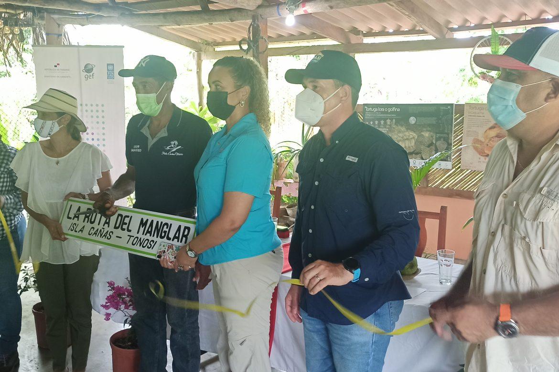Inauguran la Ruta del Manglar en Isla Cañas en su primera fase