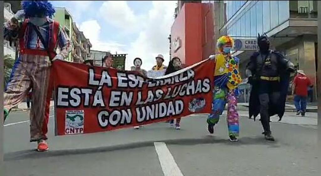 Animadores participaron en la celebración del Día del Trabajo
