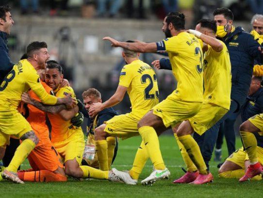 Villarreal gana su primera Europa League derrotando en los penales al Manchester United