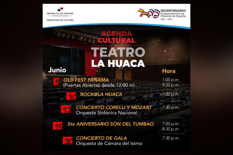 Eventos del Teatro Balboa que se realizarán en el Teatro La Huaca