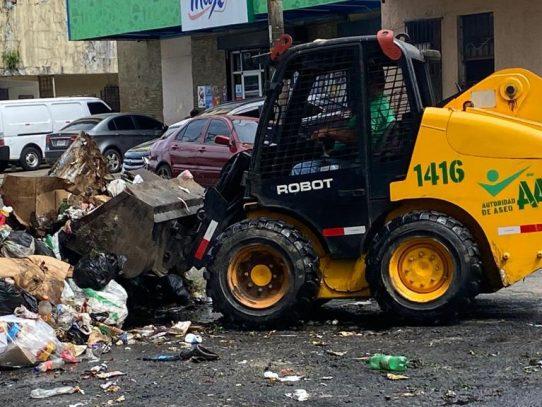 AAUD: Paro de labores de 3 días acumuló 3,600 toneladas de basura