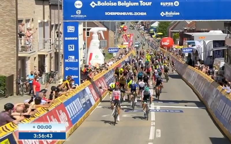 Ewan gana la 3ª etapa de Vuelta a Bélgica, Evenepoel continúa líder