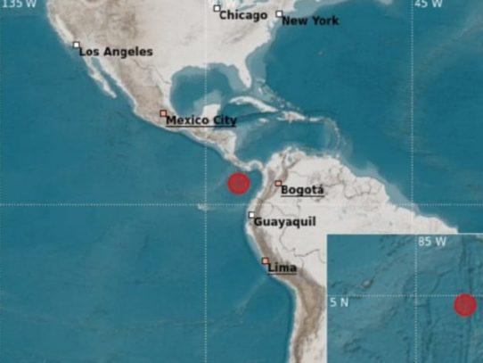 Sismo en el Pacífico panameño