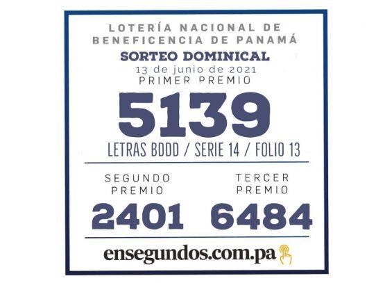 Resultados del sorteo dominical de la LNB de hoy, 13 de junio de 2021