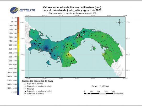 Pronóstico de precipitaciones en Panamá de junio a agosto de 2021