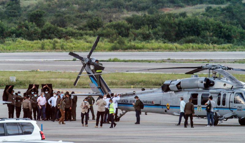 Millonaria recompensa por información sobre ataque a helicóptero de presidente colombiano