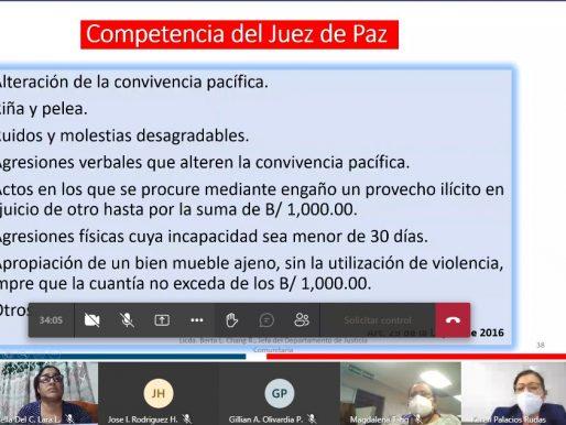 Universitarios conocen acerca de la Justicia Comunitaria de Paz