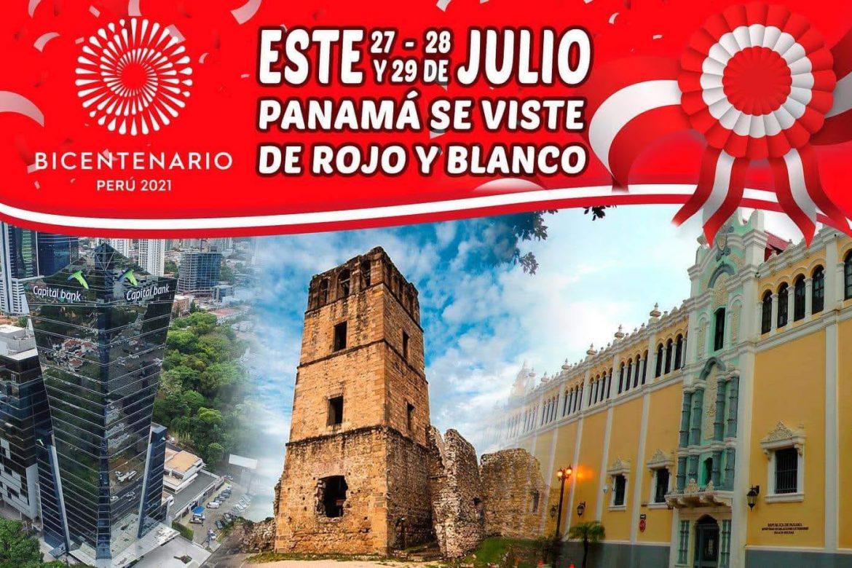 Desde esta noche: Luces roja y blanca por Bicentenario de Independencia del Perú