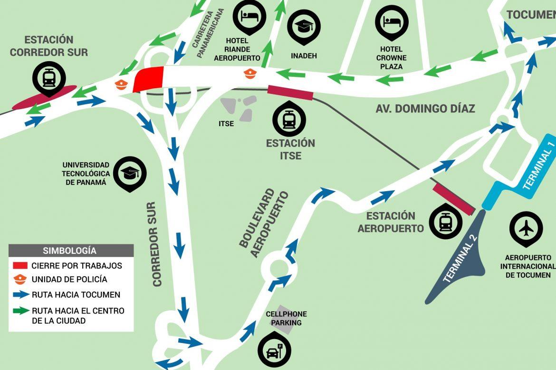 Cierre total en Avenida Domingo Díaz por trabajos del Proyecto Ramal Línea 2