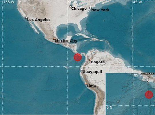 Sismo de 6.4MLv se sintió en el sur de Panamá