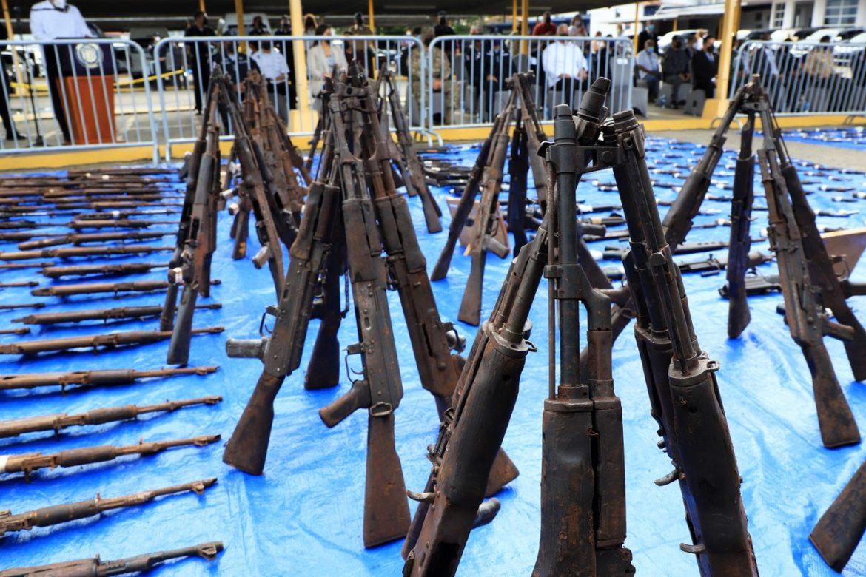 MEF y estamentos de seguridad destruyeron armas de grueso calibre