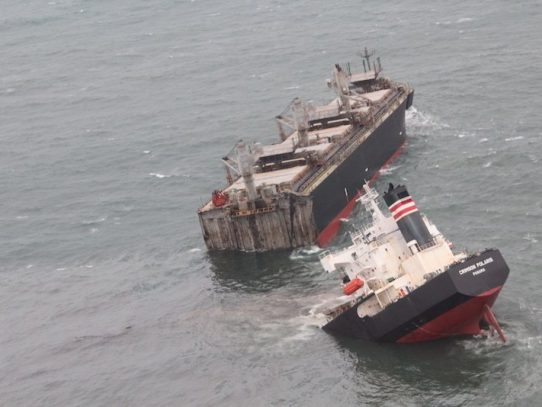 AMP investiga encallamiento de la nave Crimson Polaris en costas de Japón