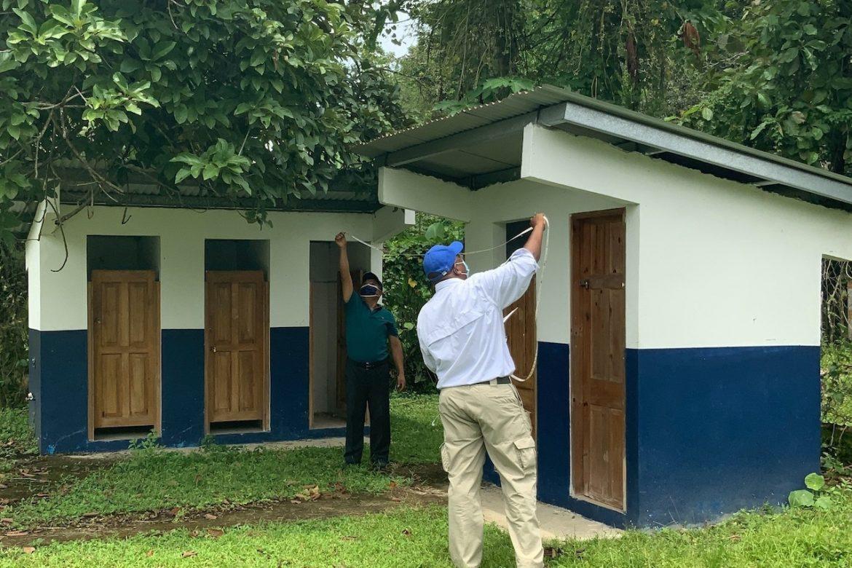 Culminó inspección de escuelas donde instalarán sistema de cosecha de agua