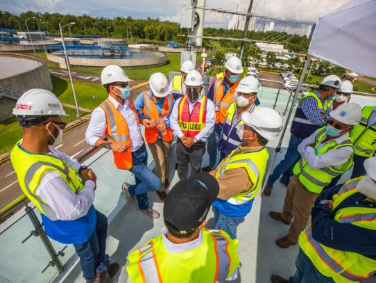 Contralor inspeccionó trabajos del Módulo II de la Planta de Tratamiento de Aguas Residuales en Juan Díaz